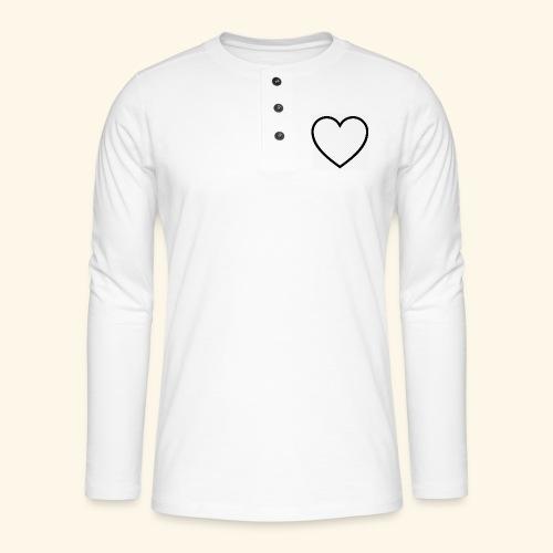heart 512 - Henley T-shirt med lange ærmer