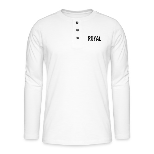 RoyalClothes - Henley shirt met lange mouwen