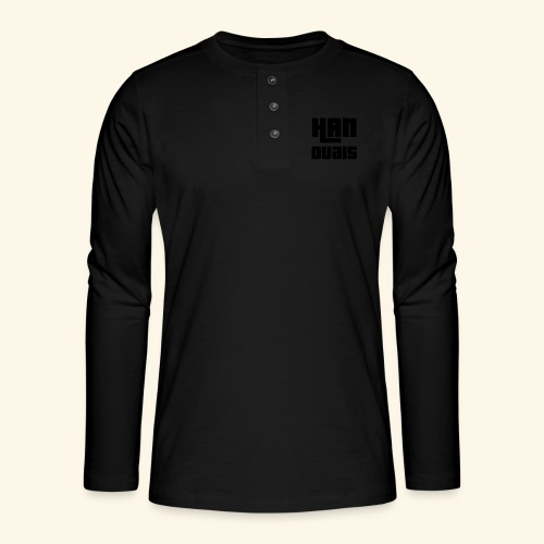 Han Ouais GTA noir - T-shirt manches longues Henley