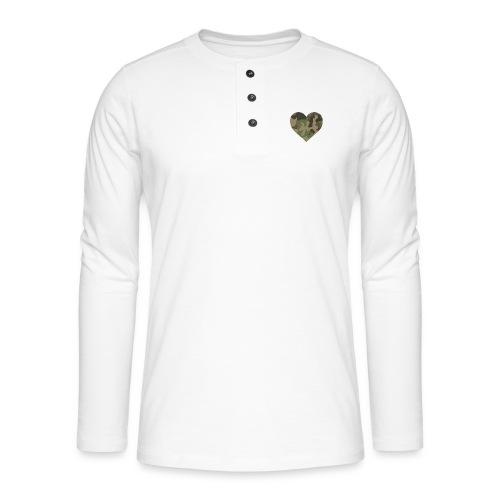 CamoHearth - Koszulka henley z długim rękawem