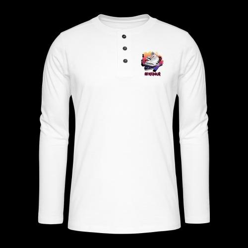 #Kickeur Noir - T-shirt manches longues Henley