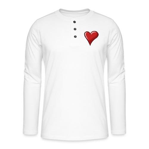 Love (coeur) - T-shirt manches longues Henley