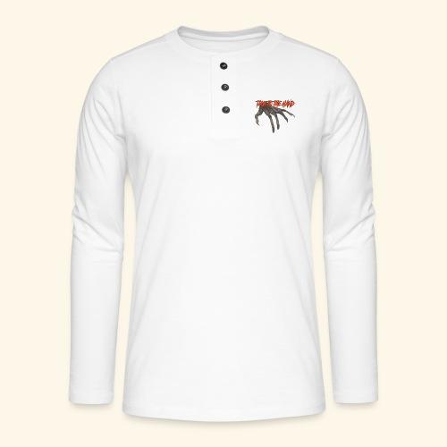 Talk To The Hand - Henley shirt met lange mouwen