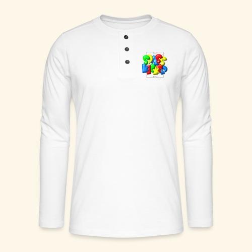 Spass Kicker im Fußballfeld - Balloon-Style - Henley Langarmshirt