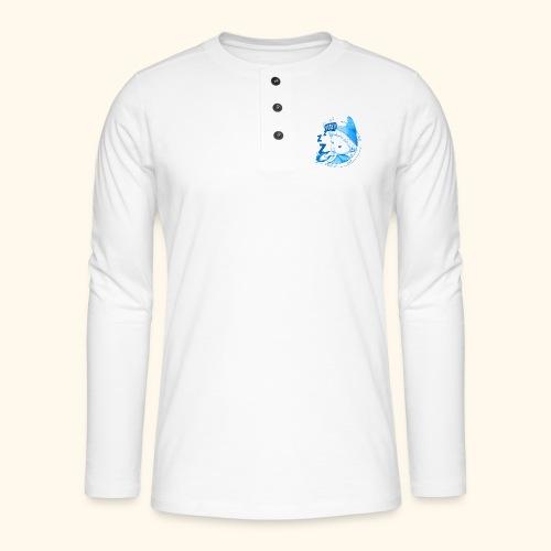 Sandmann im Mond Pssst blau - Henley Langarmshirt