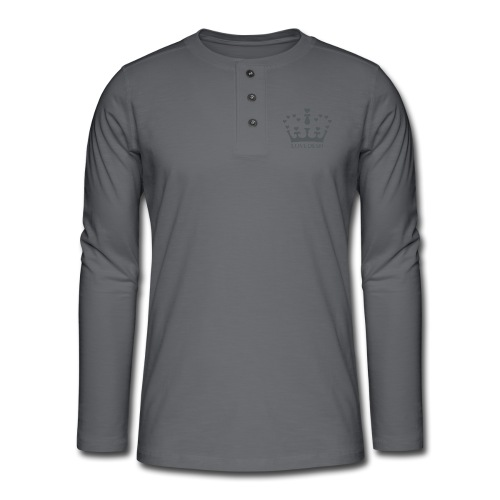 LD crown logo hearts png - Henley long-sleeved shirt