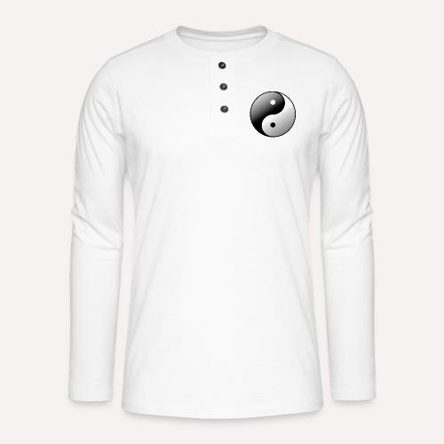 Yin Yang Symbol balance Print Sign - Henley long-sleeved shirt