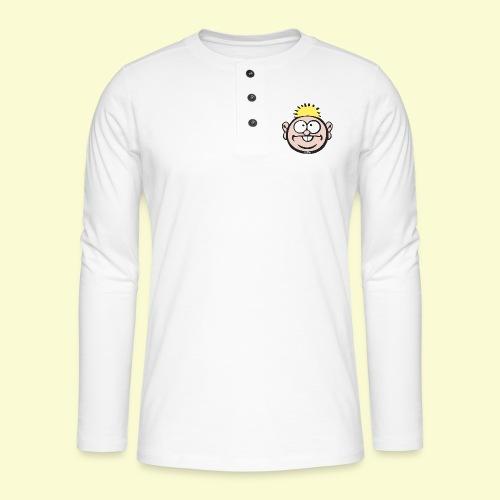 DIRKJAN - Henley shirt met lange mouwen