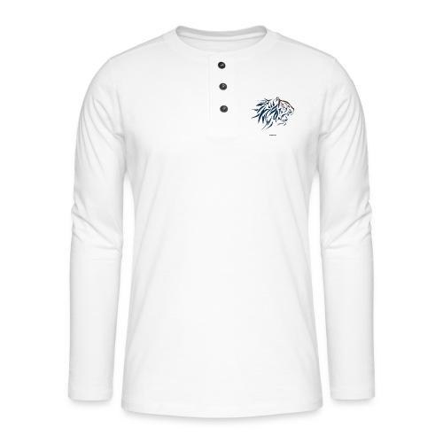 tiger vector - Camiseta panadera de manga larga Henley
