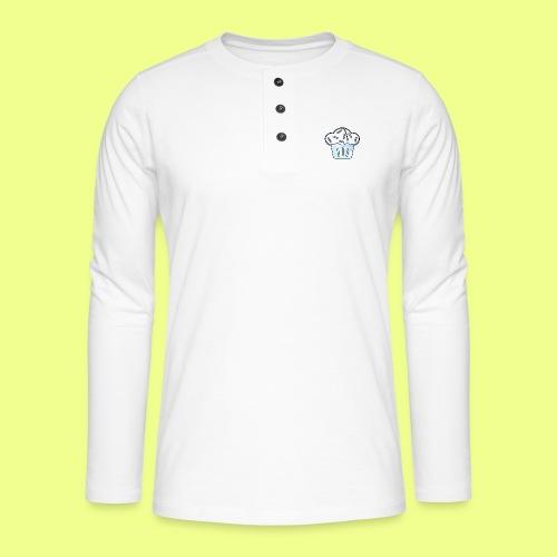 Pastel - Camiseta panadera de manga larga Henley