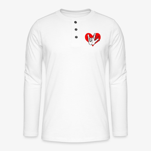 Love Love Rouge - T-shirt manches longues Henley