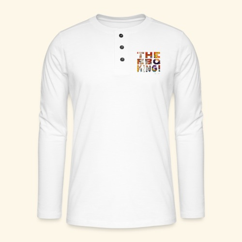 THE BBQ KING T SHIRTS TEKST - Henley shirt met lange mouwen