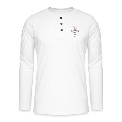 Lotus Unalome MaitriYoga - T-shirt manches longues Henley