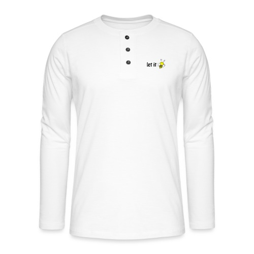 let it bee - Henley Langarmshirt