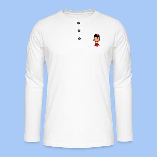 Coca chan - Camiseta panadera de manga larga Henley