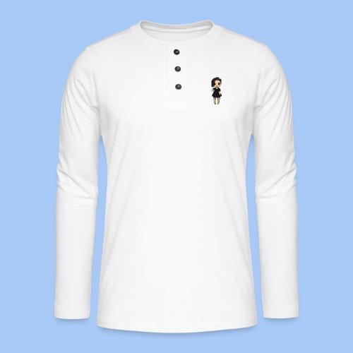 gotic waifu - Camiseta panadera de manga larga Henley