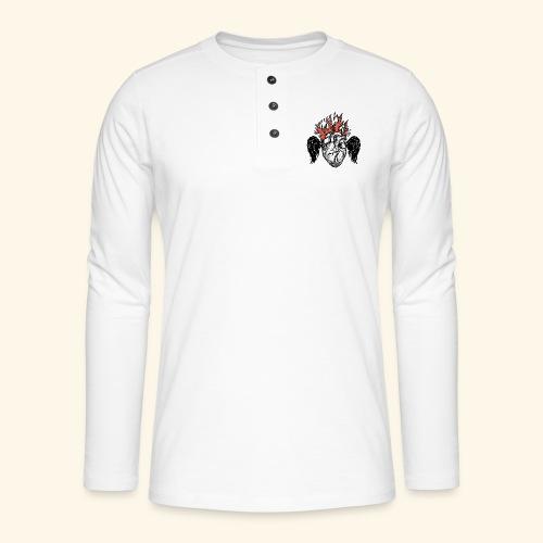 Sacred Heart - Camiseta panadera de manga larga Henley