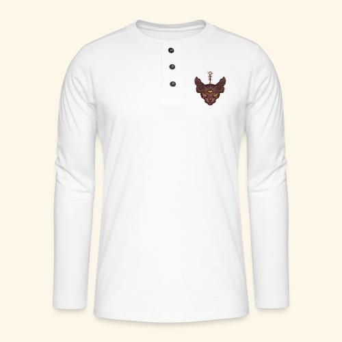 Bastet - Camiseta panadera de manga larga Henley