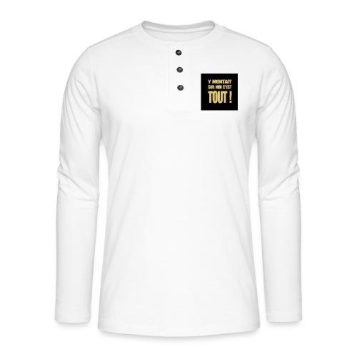 badgemontaitsurmoi - T-shirt manches longues Henley