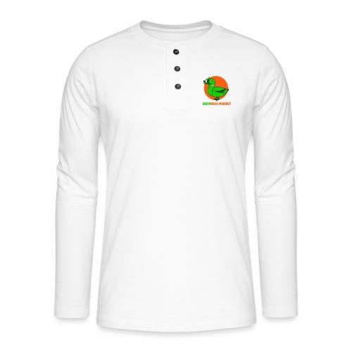 Greenduck Podcast Logo - Henley T-shirt med lange ærmer