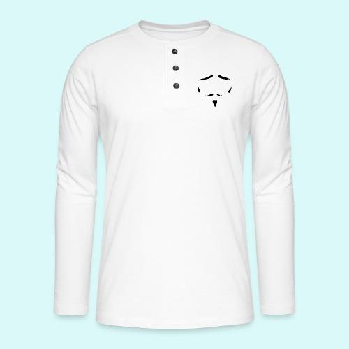 moustache - T-shirt manches longues Henley