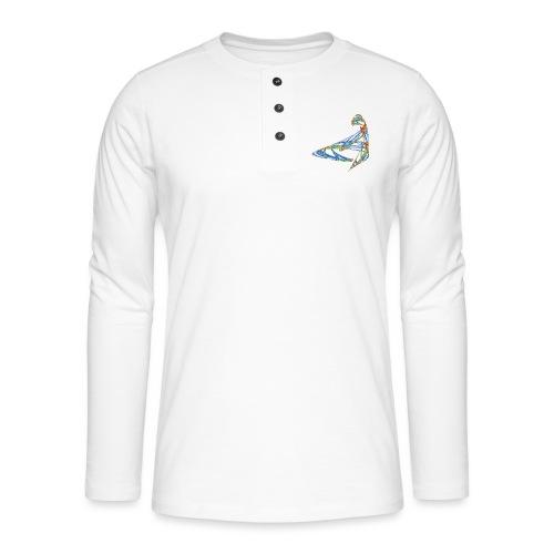 Fröhliches Farbenspiel 853 jet - Henley Langarmshirt