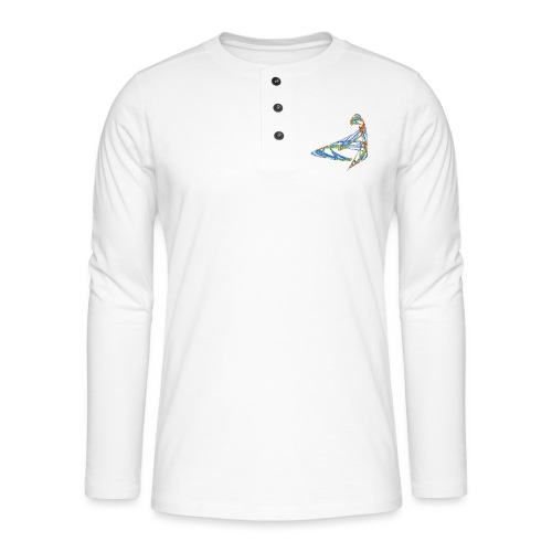 Happy play of colors 853 jet - Henley long-sleeved shirt