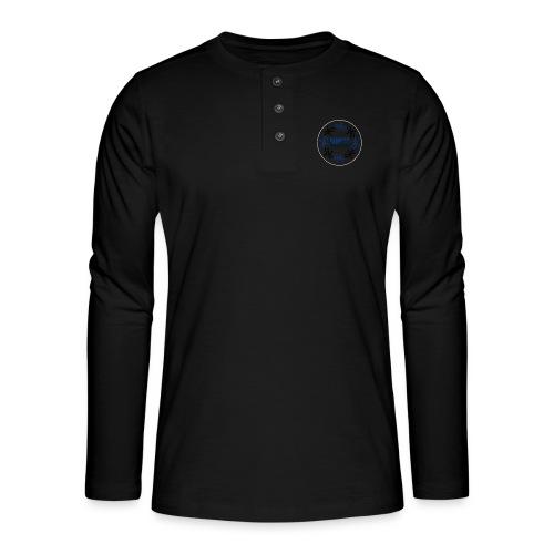 Badge Reunion Island Bleu - T-shirt manches longues Henley