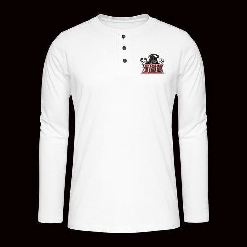 SoWeQDK Banner - Henley T-shirt med lange ærmer