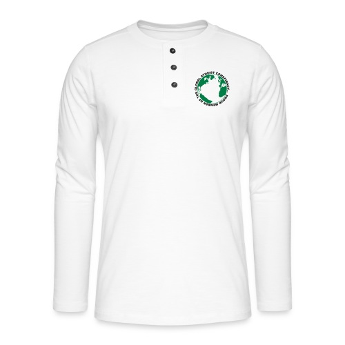 Global Atheist Conspiracy - Henley long-sleeved shirt