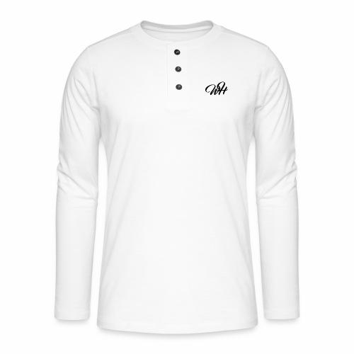 Basic logo - Henley T-shirt med lange ærmer