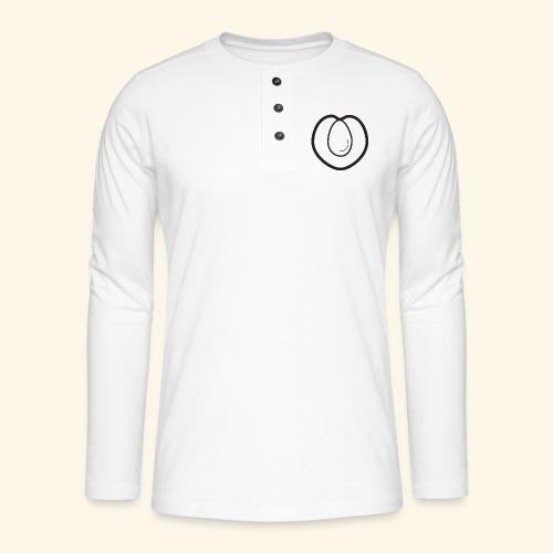 fruits and veggies icons peach 512 - Henley T-shirt med lange ærmer