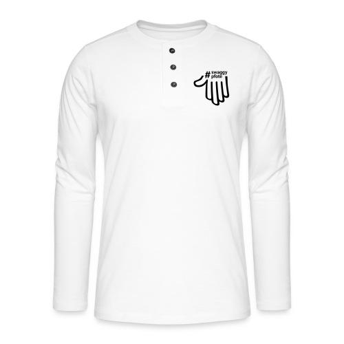 #swaggypfote T-Shirt (Schwarz) - Henley Langarmshirt