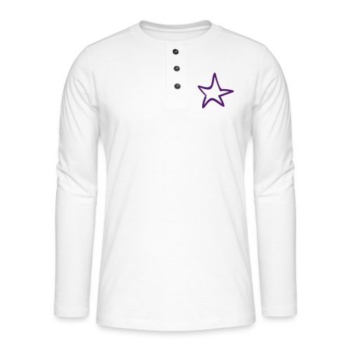 Star Outline Pixellamb - Henley Langarmshirt