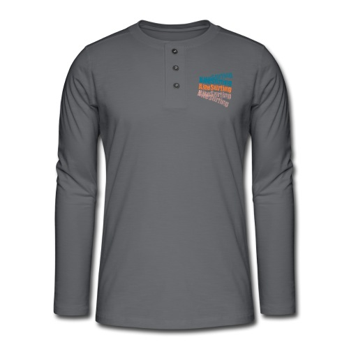 Kiteboard | Zensitivity beach - Henley shirt met lange mouwen