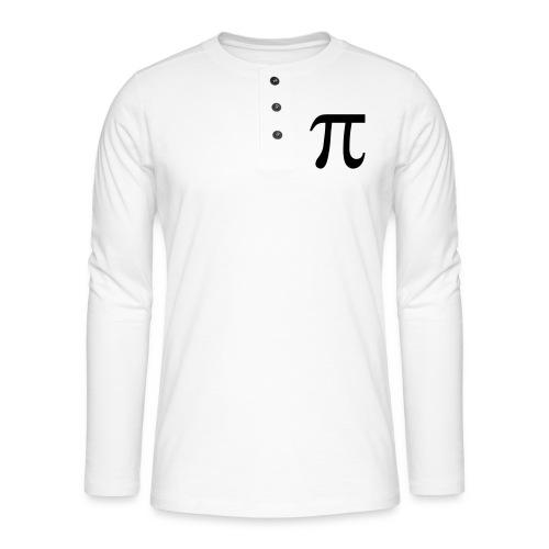 pisymbol - Henley shirt met lange mouwen