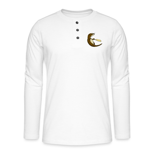 Song of the Paddle; Quentin classic pose - Henley long-sleeved shirt