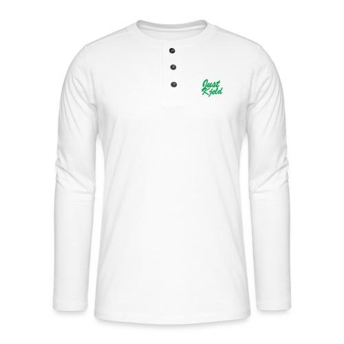 JustKjeld - Henley shirt met lange mouwen
