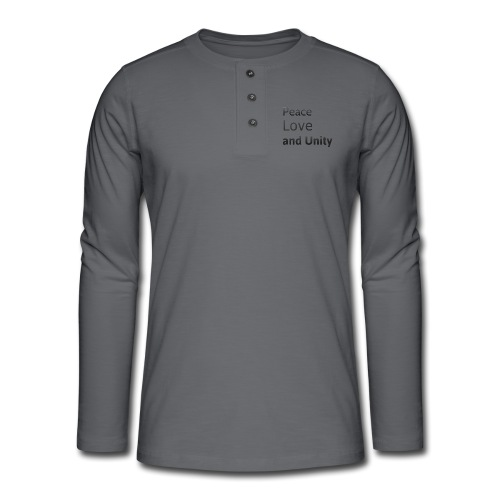 Peace love and unity - Henley long-sleeved shirt
