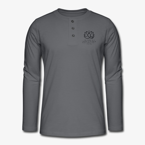 Travel quote 3 - Henley long-sleeved shirt