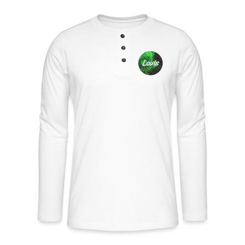 Louis round-logo - Henley Langarmshirt