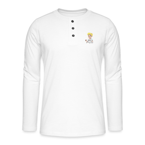 ItsLuke Cartoon Design - Henley long-sleeved shirt