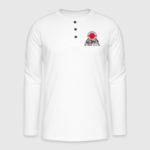 THEGENITALS - Henley T-shirt med lange ærmer