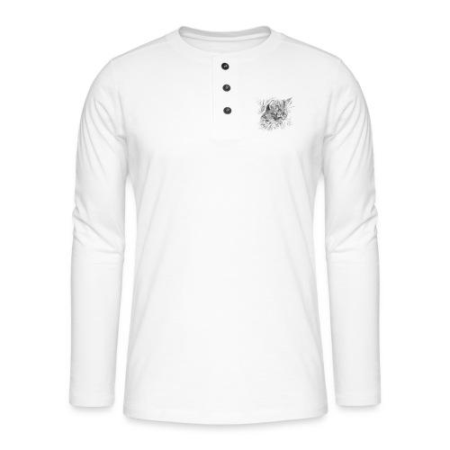chat triste - T-shirt manches longues Henley