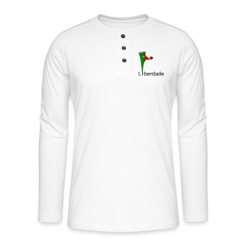 Galoloco - Liberdaded - 25 Abril - T-shirt manches longues Henley