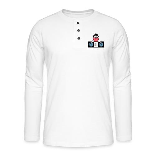 Vinyl DJ - Henley shirt met lange mouwen