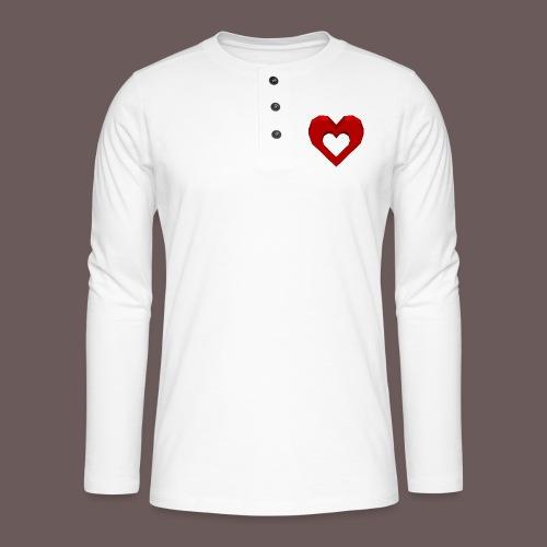 Heart Illusion - Henley T-shirt med lange ærmer