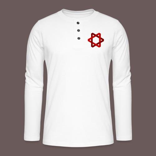 Two Triangles - Henley T-shirt med lange ærmer