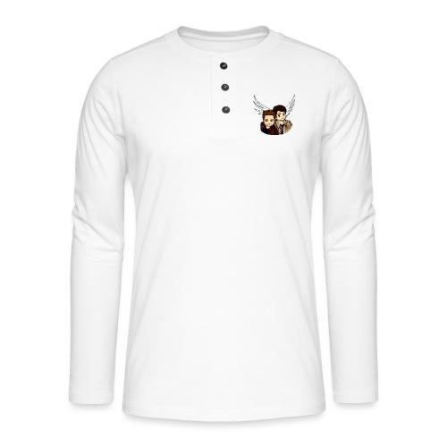 Destiel i farver - Henley T-shirt med lange ærmer