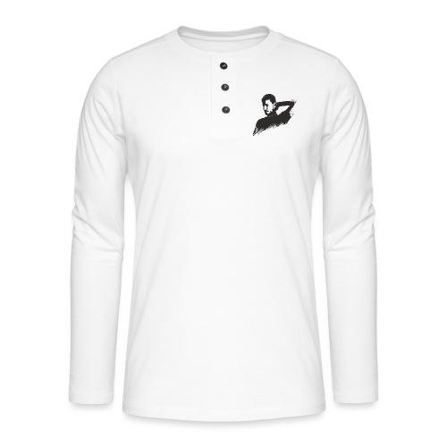 illustration zoom dario noir - T-shirt manches longues Henley